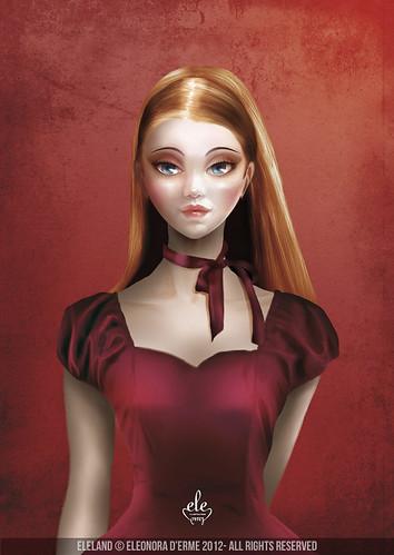 Celine - Cameo Portrait by Eleland