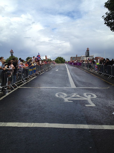 Lining the route for the Women's Olympic Road Race 2012
