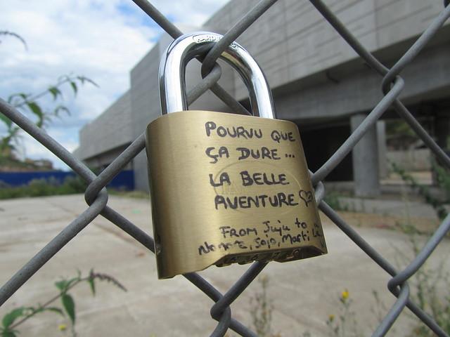 Love locks in Shoreditch