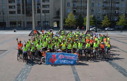 Участники cycling for libraries, перед стартом