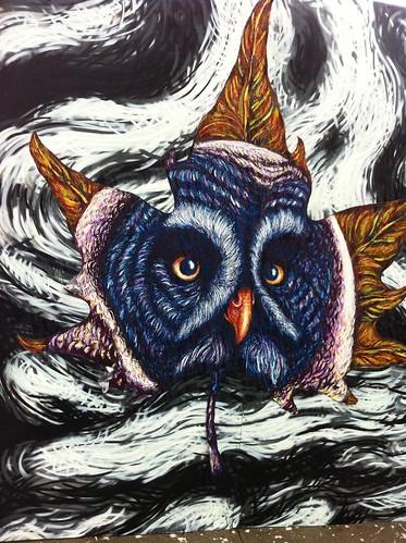 Owl & Leaf