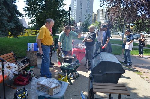 Occupy Edmonton Free BBQ 2