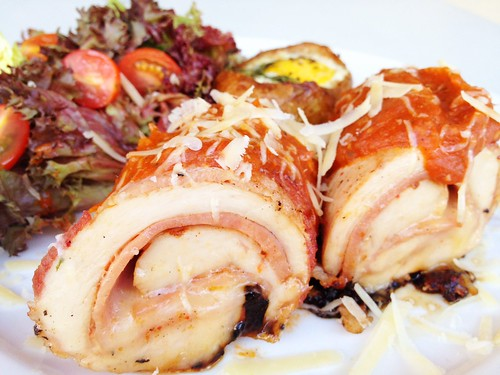 bacon-wrapped chicken roulade