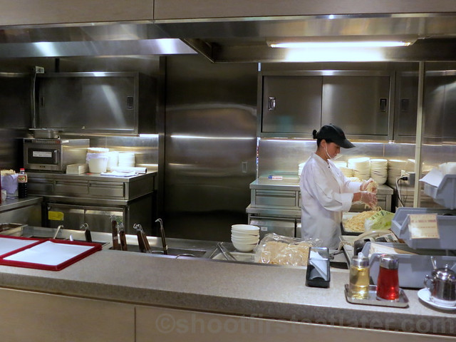 China Airlines Lounge in Taipei airport- dynasty noodle bar