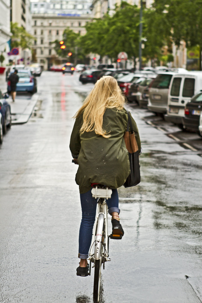 cycling in the rain
