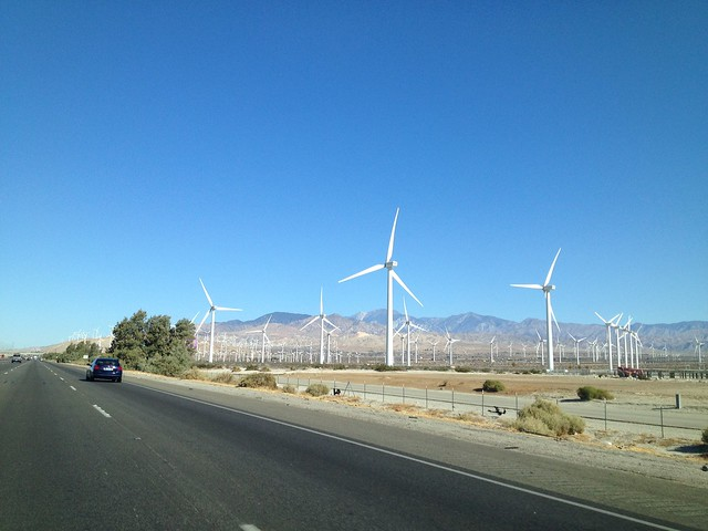 Windmills along Highway 10