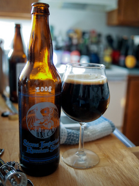 Stone 2008 Imperial Russian Stout versus Olde English 800
