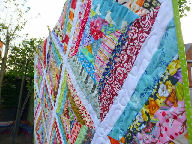 Scrappy Strips Quilt (British Patchwork & Quilting Sept16)
