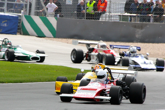 Racing at the Donington Historic Festival, Donington Park, May 2012