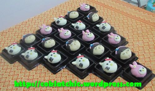 Minicupcake Hello Kitty, minicupcake my melody, minicupcake dora
