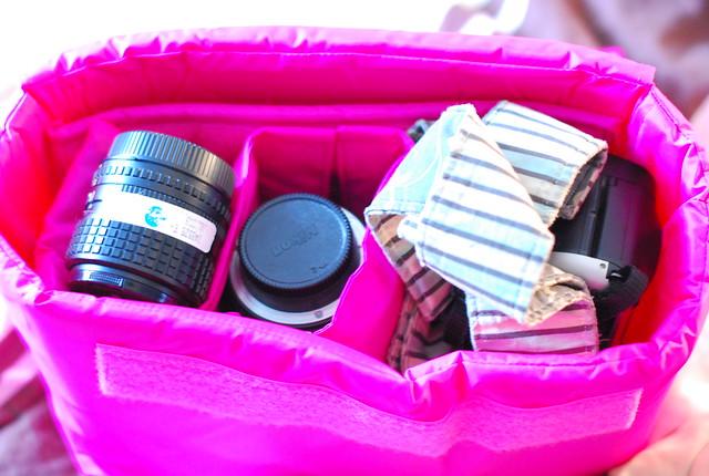 my new camera bag liner
