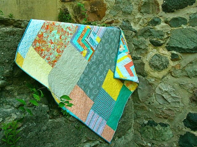 back of the improv chevron quilt