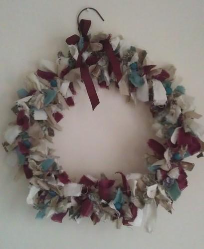 Skye's fabric wreath
