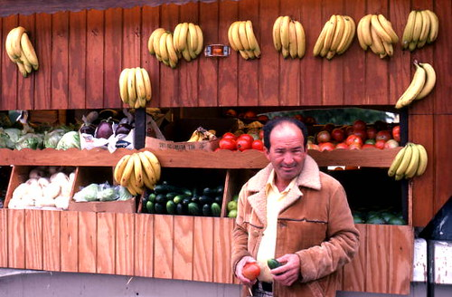 Fruit and vegetable stand in Little Havana: Miami, Florida