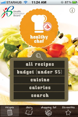 Healthy Chef App by Health Promotion Board