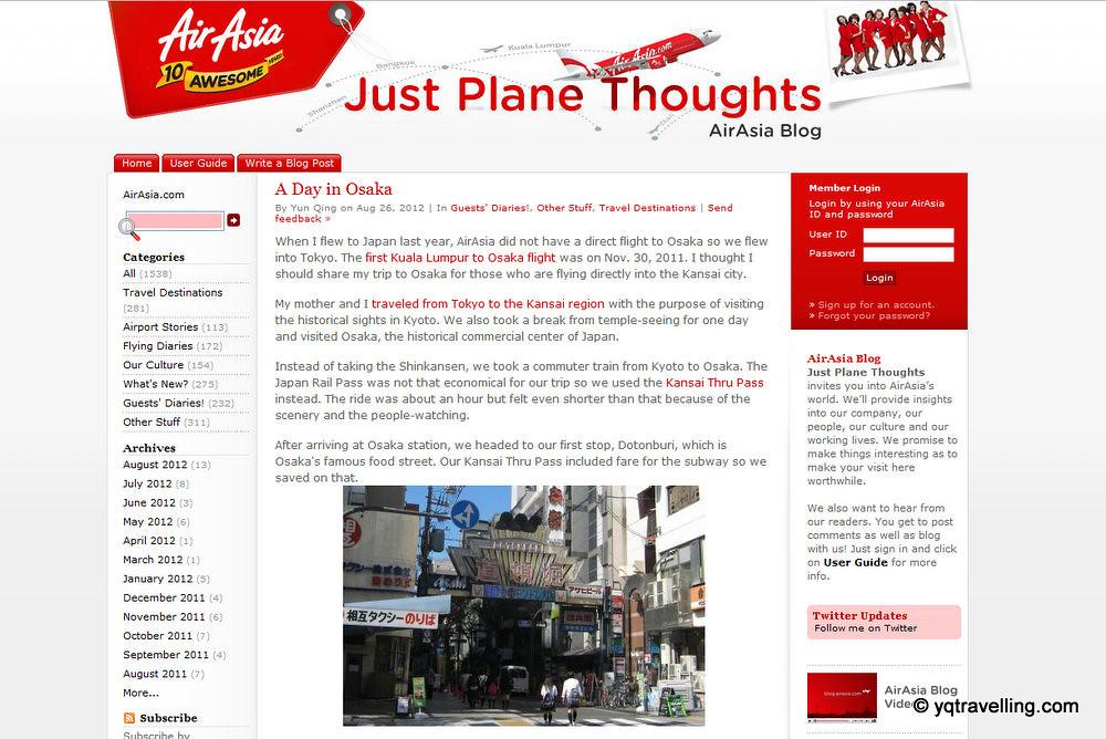 A Day in Osaka on AirAsia blog