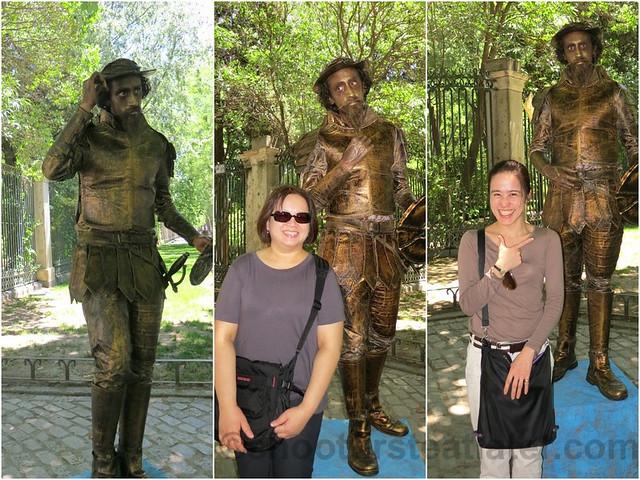 human statue in Madrid