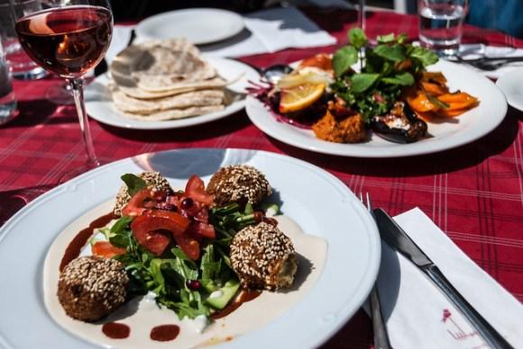 Mezze bij Syrisch restaurant Saliba in Hamburg