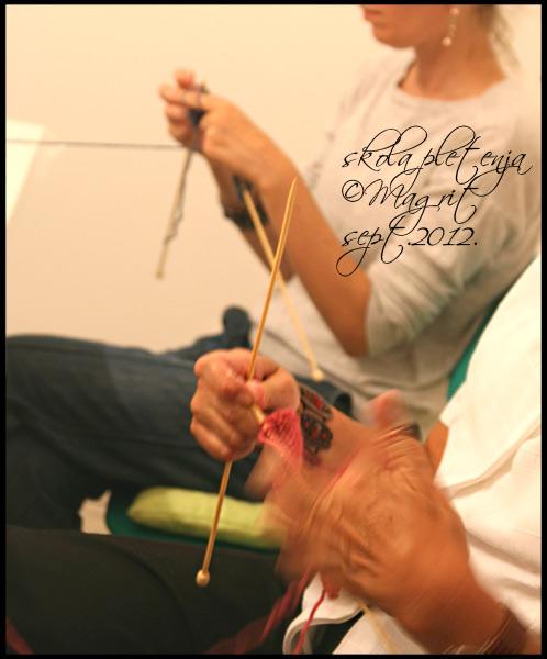 first class, knitting