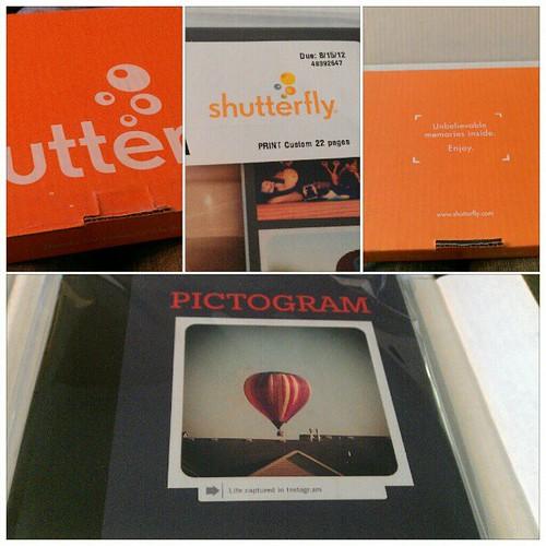 I got my Shutterfly book as a Klout perk #sflyperk I love it!