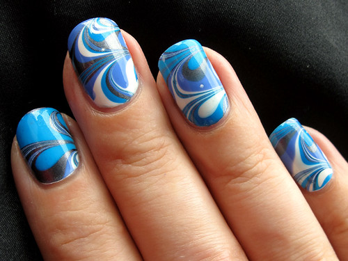 Flormar / China Glaze / Sally Hansen water marble
