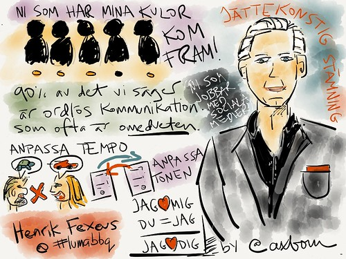 Sketchnotes from Henrik Fexeus' talk at <a rel=