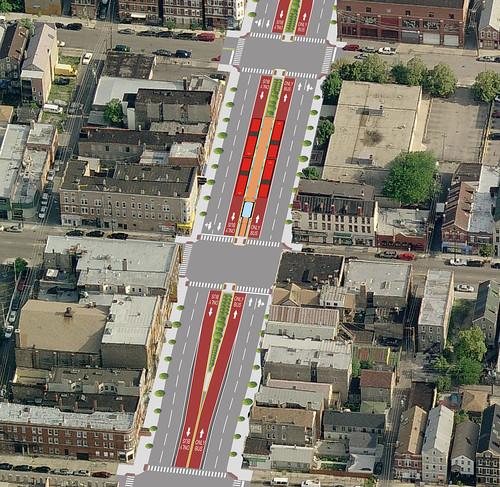 Ashland BRT lane rendering