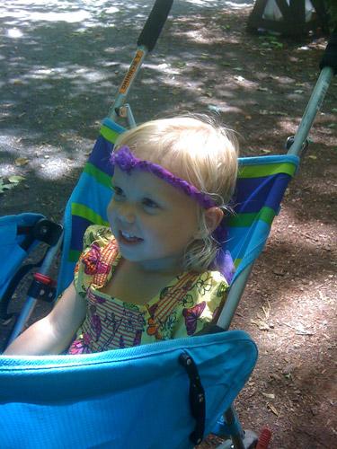 Her favorite part of the Ren Fair! It's so 80's.