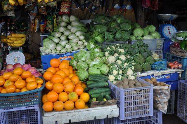 Roadside Fruit and Vegetable Stall