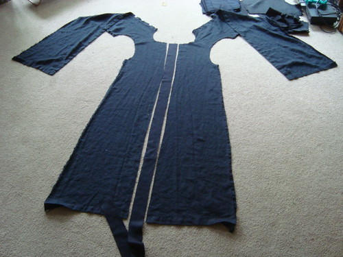 Caligari's coat - fixing the back