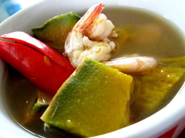 STP's pumpkin soup, kampung style