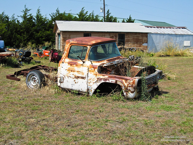 Old abandoned truck