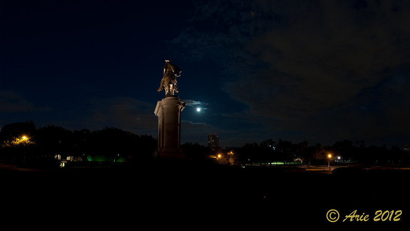 Sam Houston Under Blue Moon