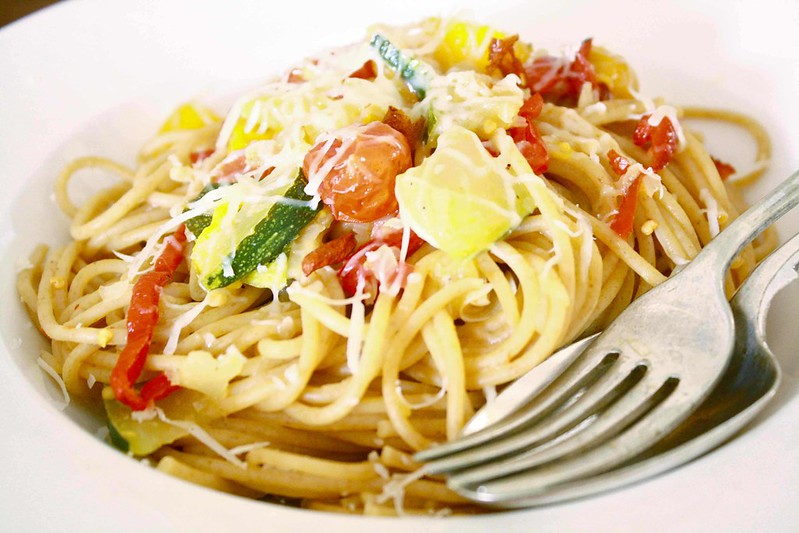 Tomato and marrow pasta