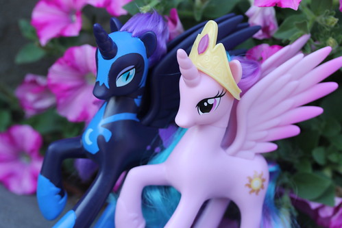 Nightmare Moon and Princess Celestia