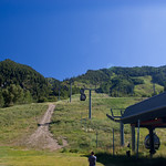Ski mountain at Aspen in summertime