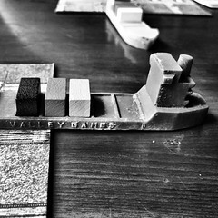 A container ship in harbor #boardgames