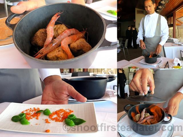 Akelare's Aranori menu -prawns & French beans cooked in
