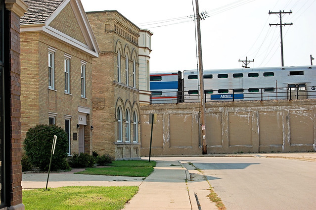 William Seymour house, Maple House, and Metra Tracks