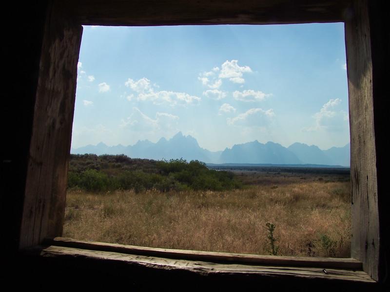Framed Grand Teton, Cunningham Cabin