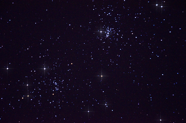 Double Cluster in Perseus w:spikes