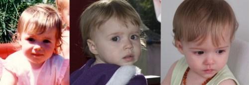 Me vs Hannah vs Abbie 1 years old