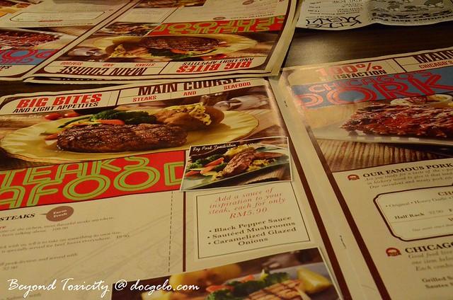 menu # 3 chicago ribs, penang, malaysia