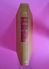 Gore Vidal, La città perversa, Elmo editore 1949. (copia 2) Dorso (part.), 1