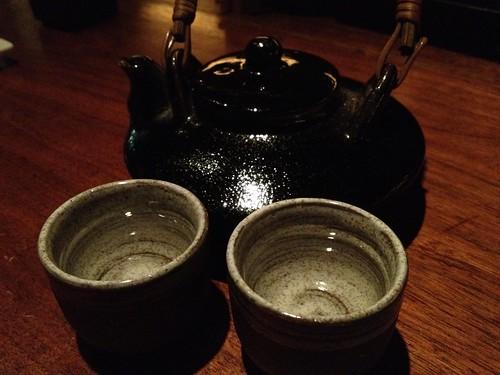 自家製割水焼酎@やきとんに焼酎 路地