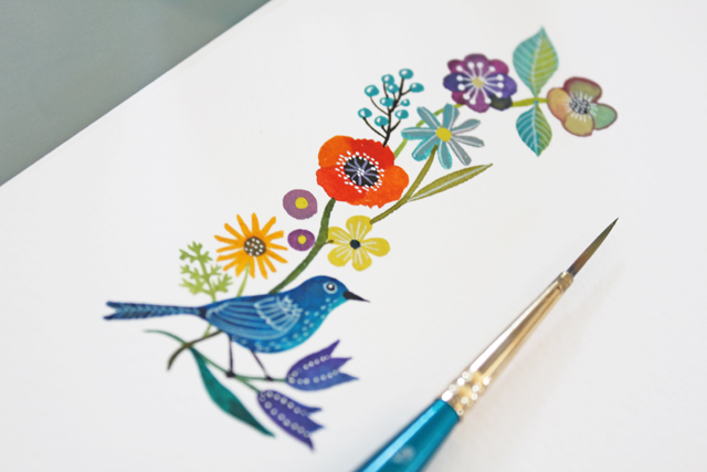 Geninne's beautiful watercolor