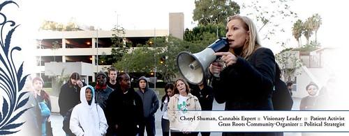 Activist Rally Lead by Cheryl Shuman MedicalCannabisManagement.com by CherylShumanInc