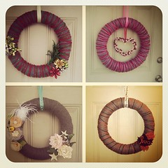 just got an email about how to make a yarn wreath. really, internets?! really?!