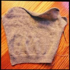 The sleeve, now knit properly (I hope)