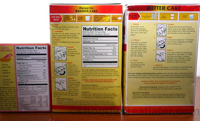 Maya Cake Mix instructions